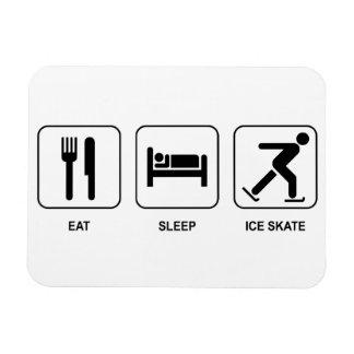 Eat Sleep Ice Skate Rectangular Magnets