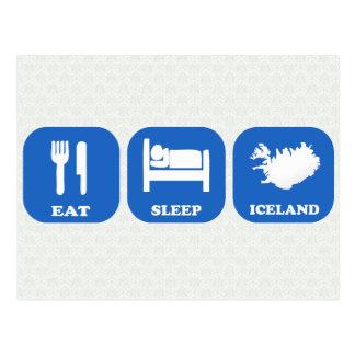 Eat Sleep Iceland Postcard