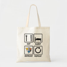 Eat, sleep, imprint, tote bag