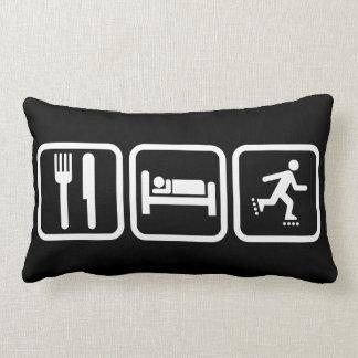 Eat Sleep Inline Skating Lumbar Pillow