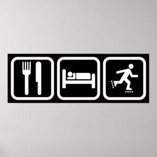 Eat Sleep Inline Skating Poster