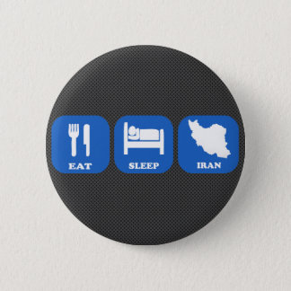 Eat Sleep Iran 6 Cm Round Badge