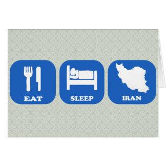 Eat Sleep Iran Card