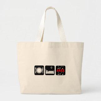 Eat sleep jazz large tote bag