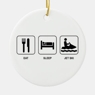 Eat Sleep Jet Ski Christmas Ornament