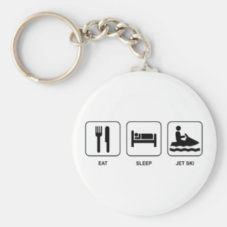 Eat Sleep Jet Ski Key Ring