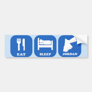 Eat Sleep Jordan Bumper Sticker