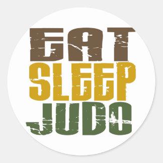 Eat Sleep Judo 1 Round Sticker
