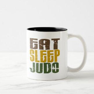 Eat Sleep Judo 1 Two-Tone Coffee Mug