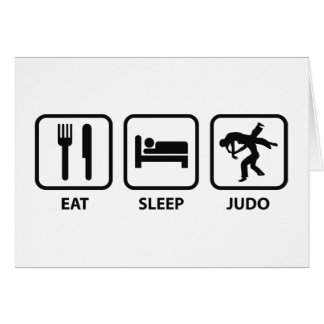 Eat Sleep Judo Card