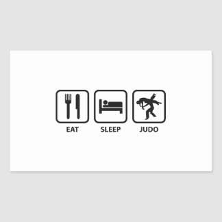 Eat Sleep Judo Rectangular Sticker