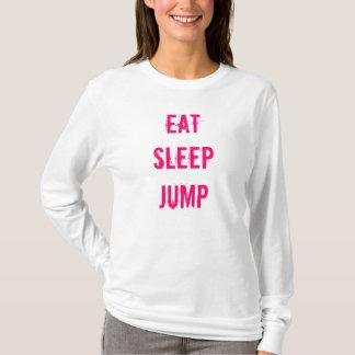 EAT SLEEP JUMP Hoodie Pink and White