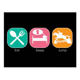 Eat Sleep Jump Postcard