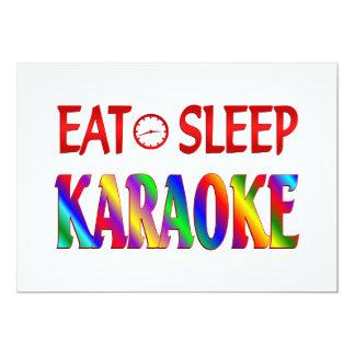 Eat Sleep Karaoke Card