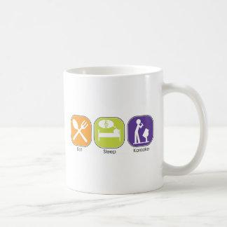 Eat Sleep Karaoke Coffee Mug