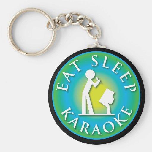 Eat Sleep  Karaoke Key Chains