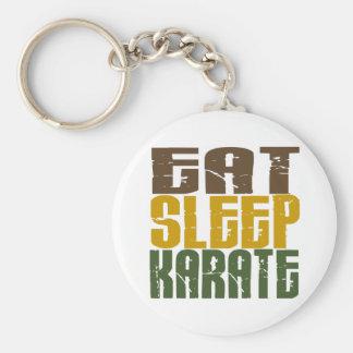 Eat Sleep Karate 1 Basic Round Button Key Ring