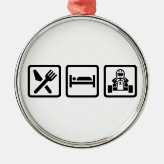 Eat sleep Kart Christmas Ornament