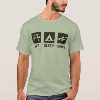 Eat Sleep Kayak Black T-Shirt