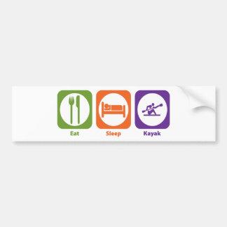 Eat Sleep Kayak Bumper Stickers