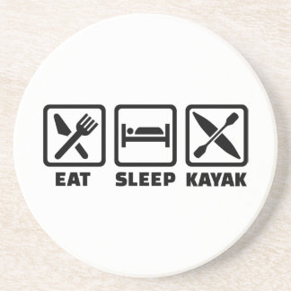 Eat Sleep Kayak Coaster