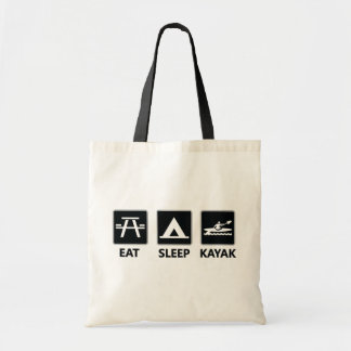 Eat Sleep Kayak Tote Bag