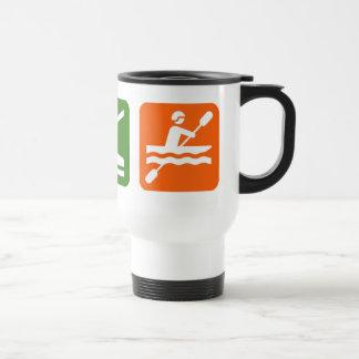 Eat Sleep Kayaking Stainless Steel Travel Mug
