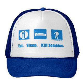 Eat. Sleep. Kill zombies. Hat