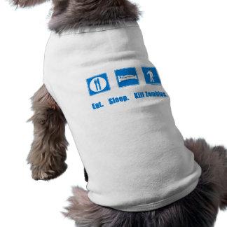 Eat. Sleep. Kill zombies. Sleeveless Dog Shirt