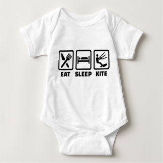 Eat sleep kite baby bodysuit