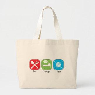Eat Sleep Knit Bag