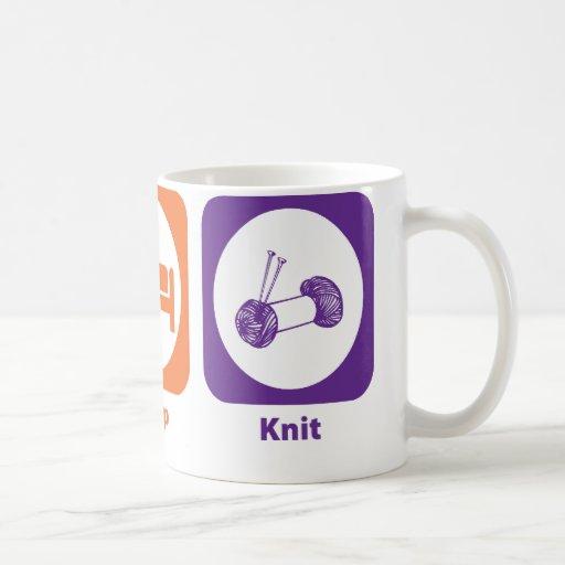 Eat Sleep Knit Classic White Coffee Mug