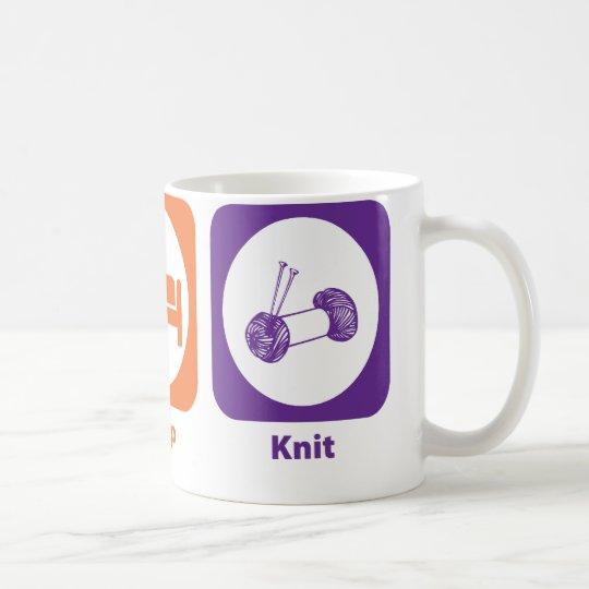 Eat Sleep Knit Coffee Mug