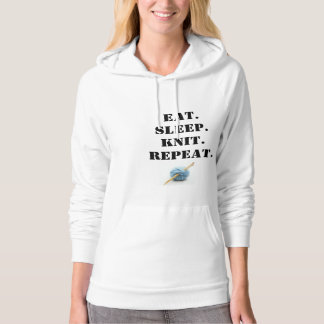 Eat, sleep, knit hoodie