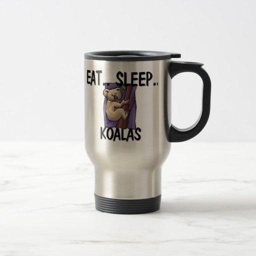 Eat Sleep KOALAS Coffee Mugs