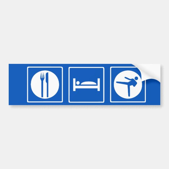 Eat Sleep Kung Fu Bumper Sticker