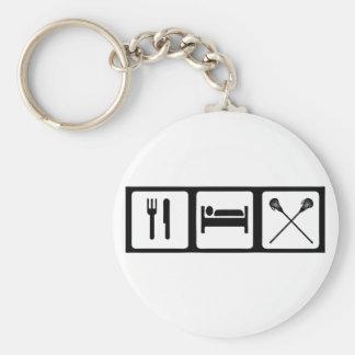 Eat, Sleep, Lacrosse Key Ring