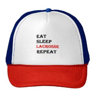Eat Sleep Lacrosse Repeat Cap