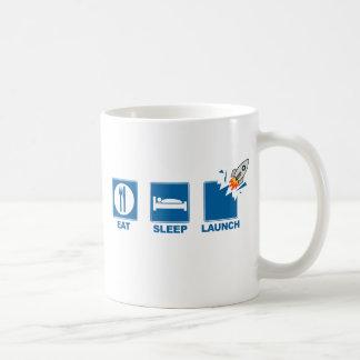 Eat Sleep Launch Basic White Mug