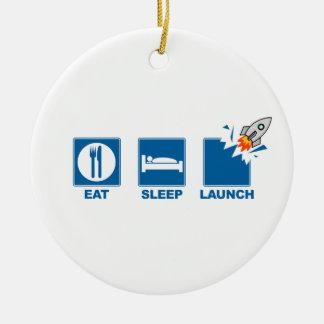 Eat Sleep Launch Christmas Ornament