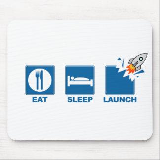 Eat Sleep Launch Mouse Mat