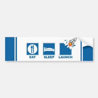 Eat Sleep Launch V2 Bumper Sticker