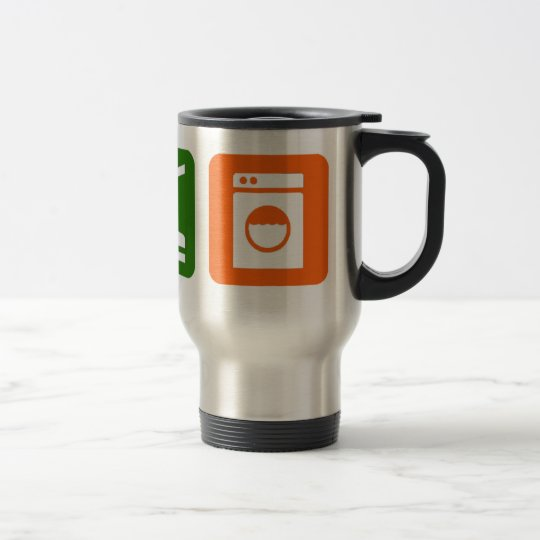 Eat Sleep Laundry Travel Mug