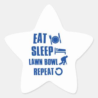 Eat sleep lawn bowl stickers