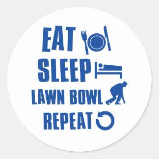 Eat sleep lawn bowl sticker