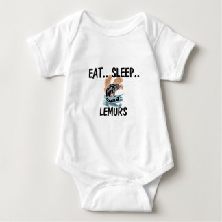 Eat Sleep LEMURS Baby Bodysuit