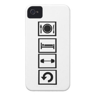 Eat, sleep, lift, repeat. iPhone 4 Case-Mate cases