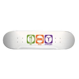 Eat Sleep Lift Weights Custom Skate Board