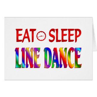 Eat Sleep Line Dance Card
