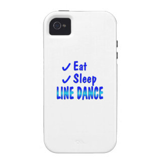 Eat Sleep Line Dance iPhone 4 Case